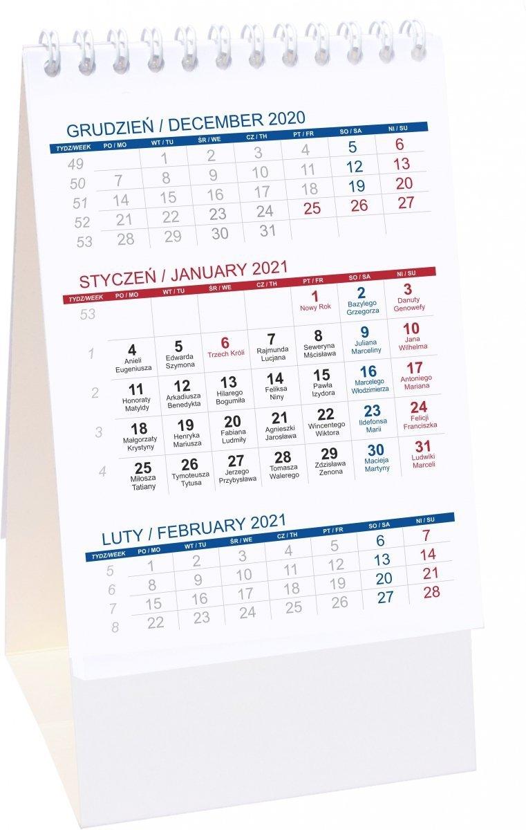 Kalendarz biurkowy stojący PIONOWY 3-MIESIĘCZNY