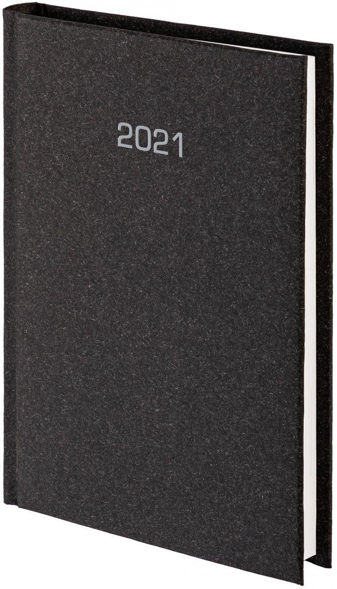 Kalendarz książkowy 2021 B5 tygodniowy oprawa NATURA czarna