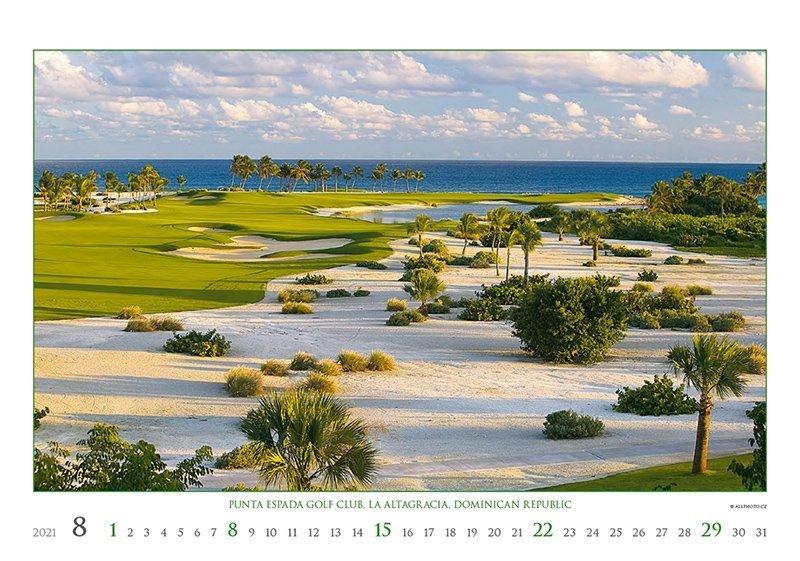Kalendarz ścienny wieloplanszowy Golf 2021 - exclusive edition - sierpień 2021