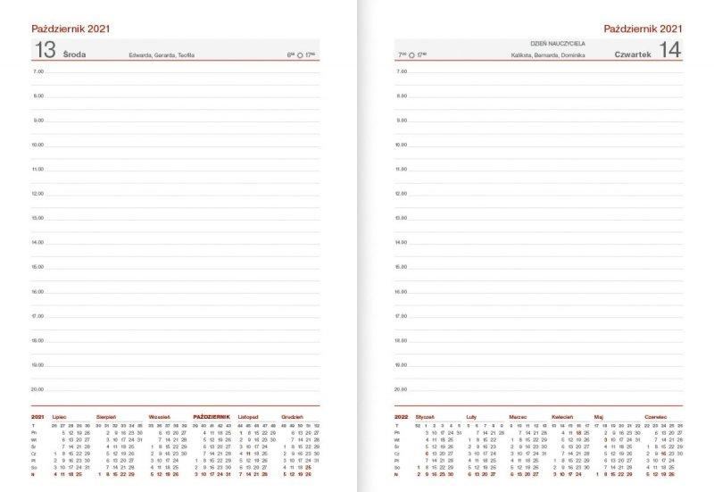 Kalendarz nauczyciela na rok szkolny 2021/2022 B6 dzienny