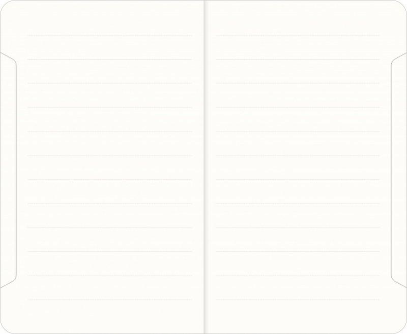 Notes A6 papier chamois w linie - przykładowa kartka z notatnika