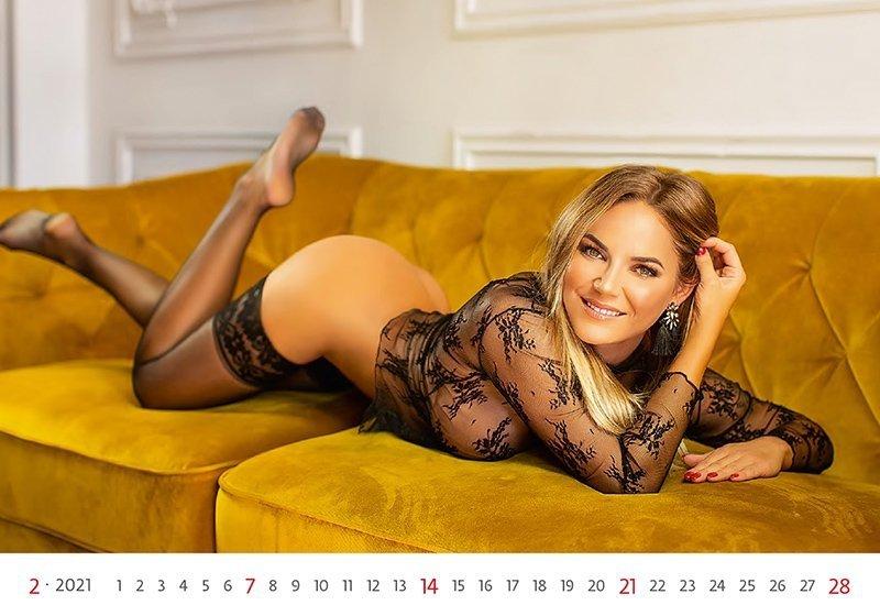 Kalendarz ścienny wieloplanszowy Flirt 2021 - luty 2021