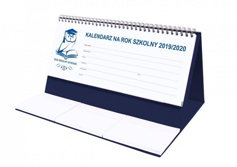 Kalendarz biurkowy EXCLUSIVE na rok szkolny 2019/2020 - granatowy