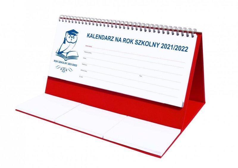 Kalendarz biurkowy tygodniowy na rok szkolny 2021/2022