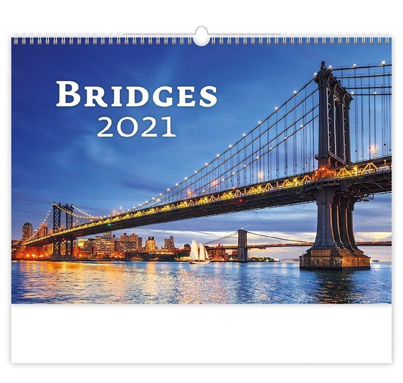 Kalendarz ścienny wieloplanszowy Bridges 2021 - okładka