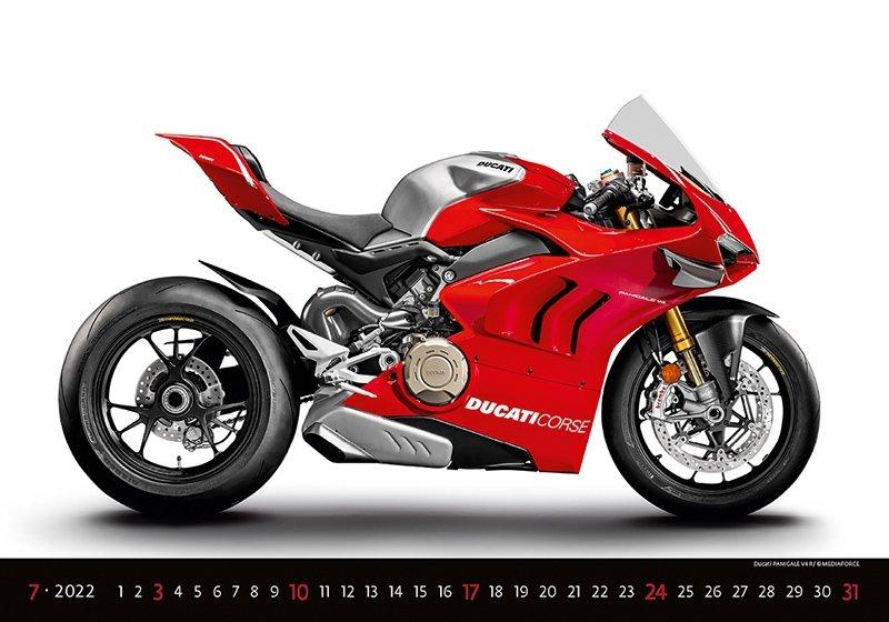 Kalendarz ścienny wieloplanszowy Motorbikes 2022 - lipiec 2022