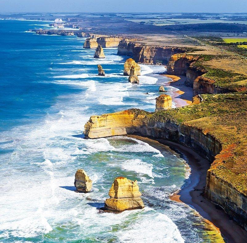 Kalendarz ścienny wieloplanszowy National Parks 2022 z naklejkami - sierpień 2022