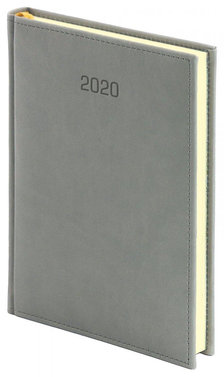 Kalendarz książkowy A4 dzienny oprawa VIVELLA EXCLUSIVE 2020 - szara
