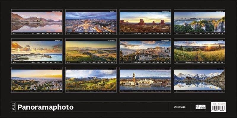 Kalendarz ścienny wieloplanszowy Panoramaphoto 2021 - exclusive edition - tylna okładka