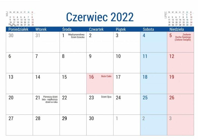 Kalendarz biurkowy PLANO dla uczniów i nauczycieli zakończenie roku szkolnego