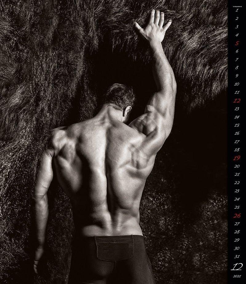 Kalendarz ścienny wieloplanszowy Men 2021 - exclusive edition - grudzień 2021