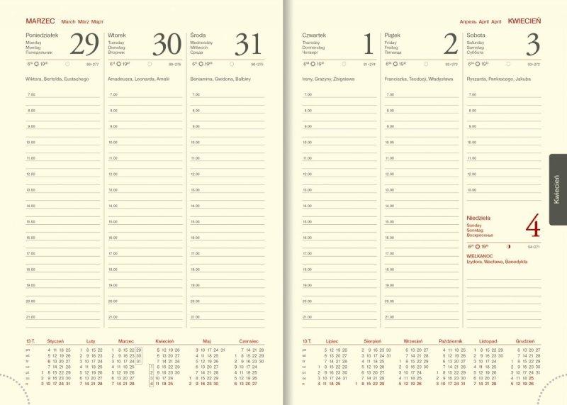 Kalendarz A5 tygodniowy z perforacją narożną