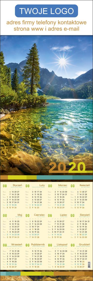Nadruk reklamowy na kalendarzu plakatowym - indywidualny projekt