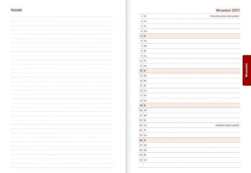 Kalendarz nauczyciela na rok szkolny 2021/2022 skrócone kalendarium następnego miesiąca