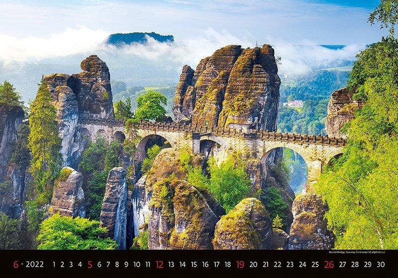 Kalendarz ścienny wieloplanszowy Bridges 2022 - czerwiec 2022