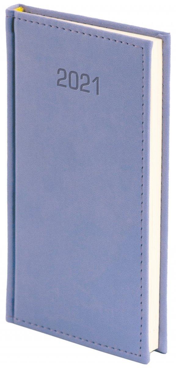 Kalendarz książkowy 2021 A6 tygodniowy perforacja oprawa VIVELLA EXCLUSIVE fioletowa
