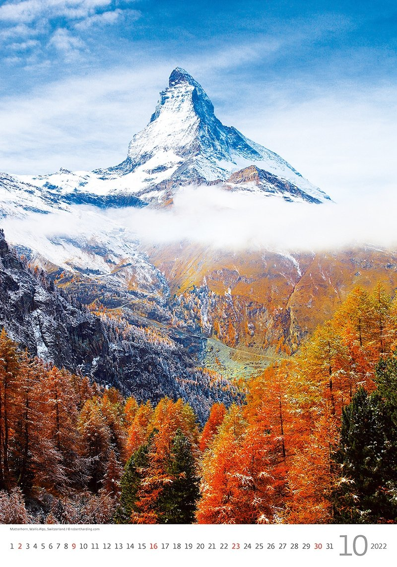 Kalendarz ścienny wieloplanszowy Alps 2022 - październik 2022