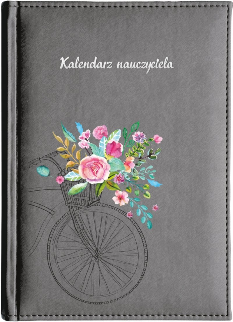 Okładka z nadrukiem rowerka z kwiatami