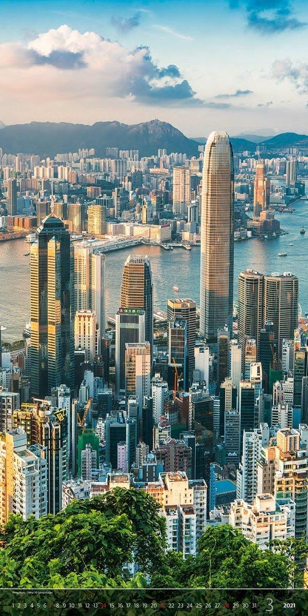 Kalendarz ścienny wieloplanszowy Above the  Cities 2021 - exclusive edition - marzec 2021