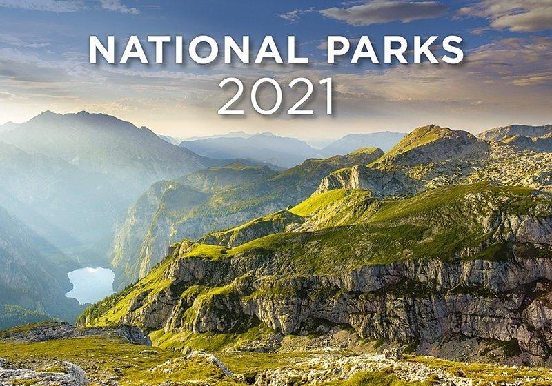 Kalendarz ścienny wieloplanszowy National Parks 2021 - okładka