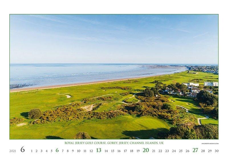 Kalendarz ścienny wieloplanszowy Golf 2021 - exclusive edition - czerwiec 2021