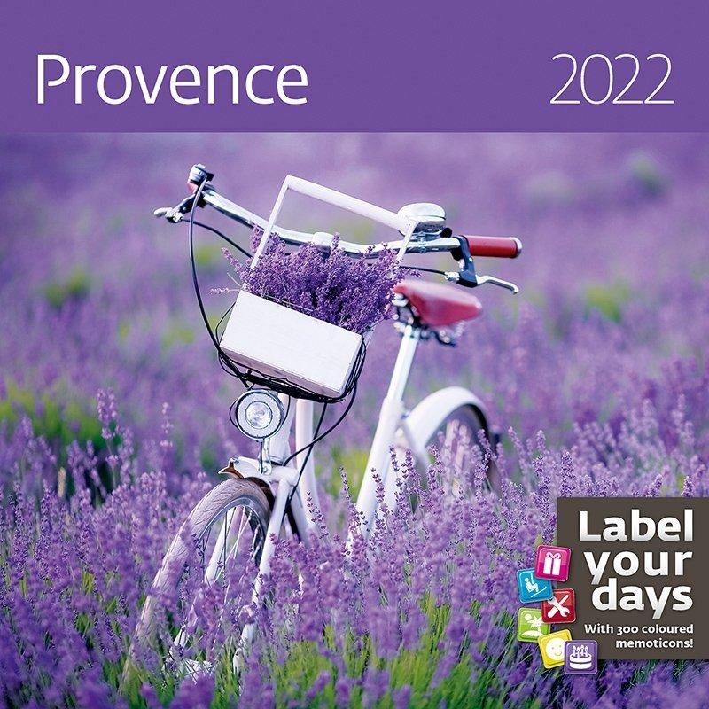 Kalendarz ścienny wieloplanszowy Provence 2022 z naklejkami - okładka