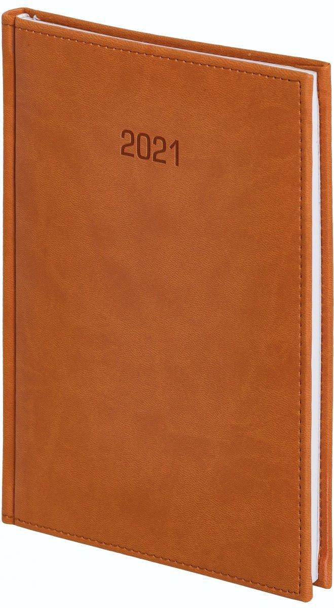 Kalendarz książkowy 2021 B5 tygodniowy oprawa VIVELLA EXCLUSIVE brązowa
