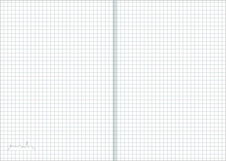 Notes A5 papier biały w kratkę - przykładowa kartka z notatnika