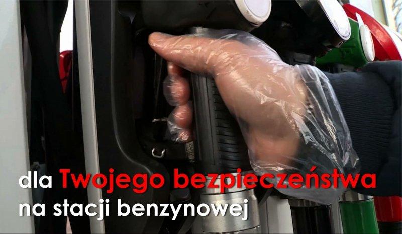 rękawiczki foliowe jednorazowe na stacje benzynowe