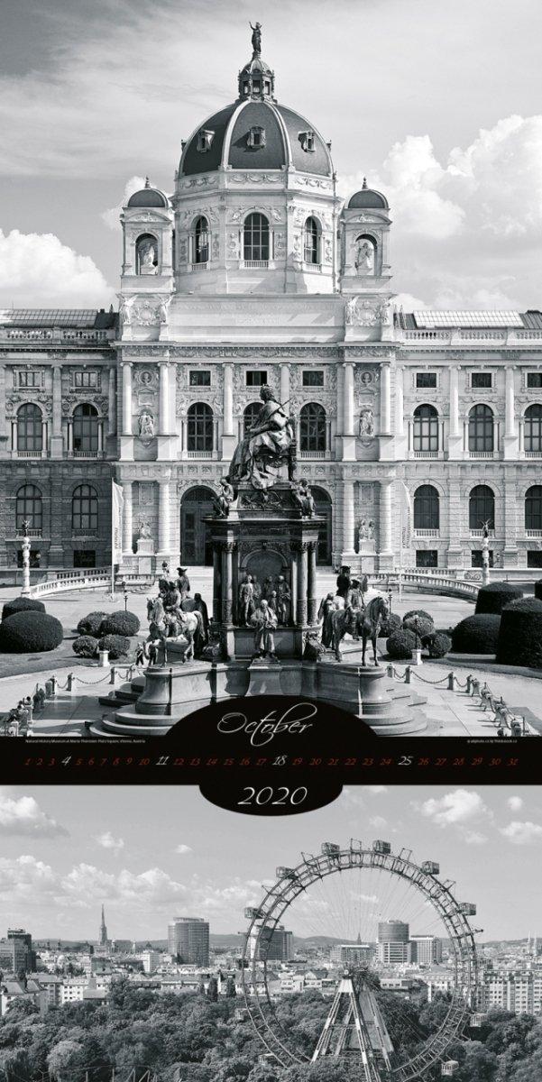 Kalendarz ścienny wieloplanszowy All About Cities 2020 - exclusive edition - październik 2020
