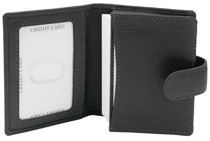Etui na wizytówki i karty czarny środek
