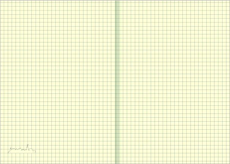 Notes A4 z długopisem zamykany na gumkę z blaszką - papier chamois w kratkę