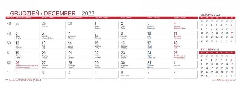 Kalendarz do postawienia na biurku z notesami i znacznikami MAXI
