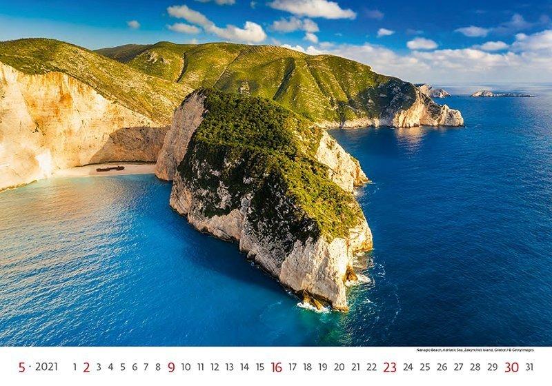Kalendarz ścienny wieloplanszowy Sea 2021 - maj 2021