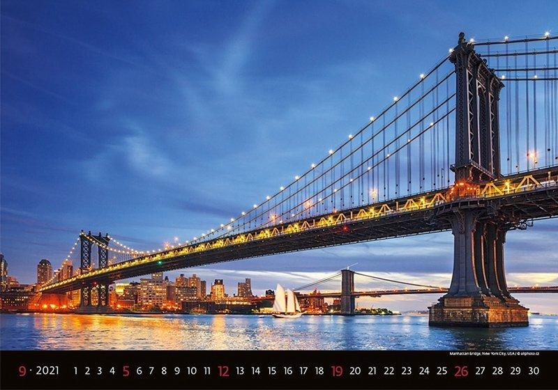 Kalendarz ścienny wieloplanszowy Bridges 2021 - wrzesień 2021