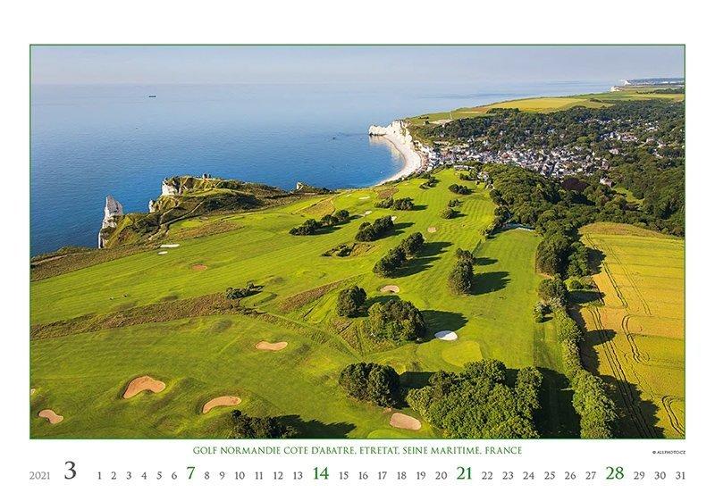 Kalendarz ścienny wieloplanszowy Golf 2021 - exclusive edition - marzec 2021