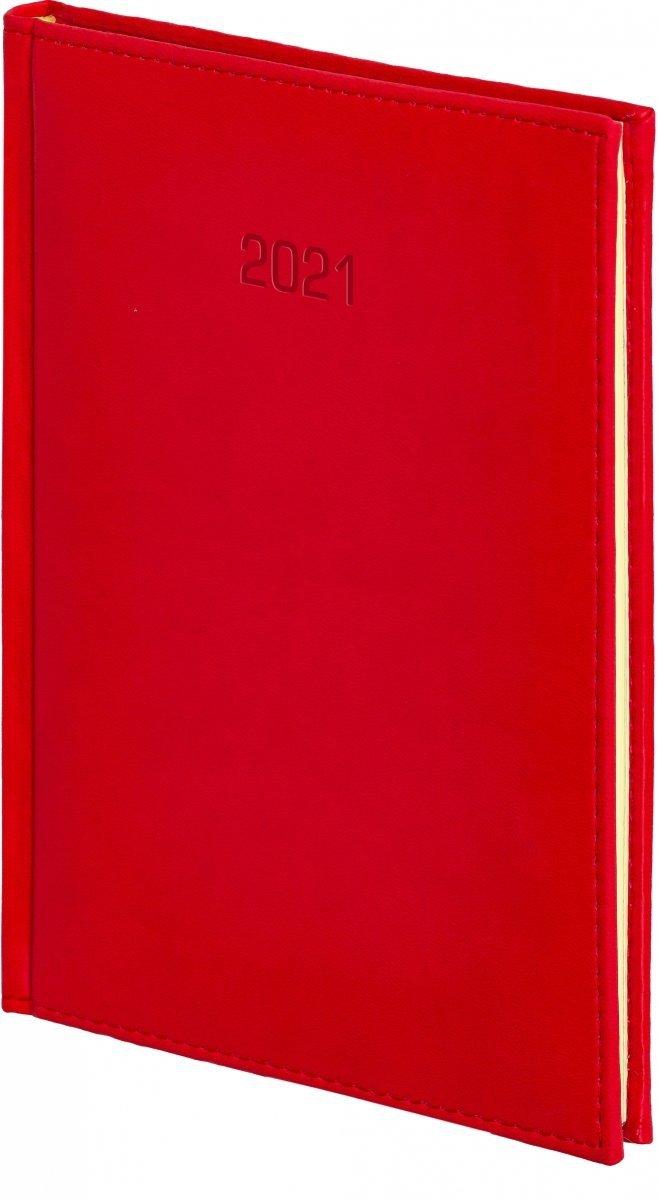 Kalendarz książkowy 2020 A4 tygodniowy oprawa VIVELLA EXCLUSIVE - czerwona