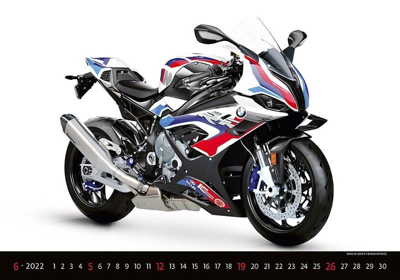 Kalendarz ścienny wieloplanszowy Motorbikes 2022 - czerwiec 2022