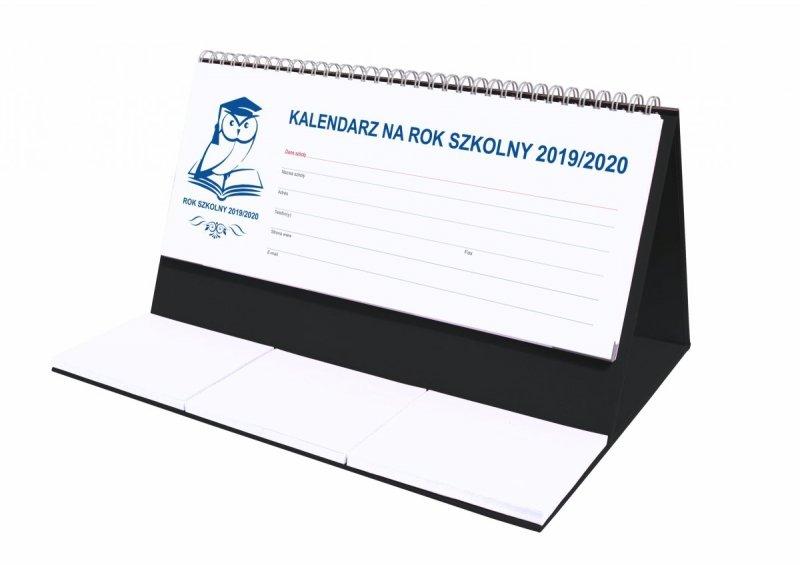 Kalendarz biurkowy EXCLUSIVE na rok szkolny 2019/2020 - czarny