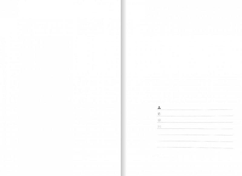Notes A5 papier biały w kratkę - strona tytułowa