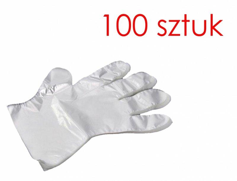 rękawiczki foliowe PE jednorazowe