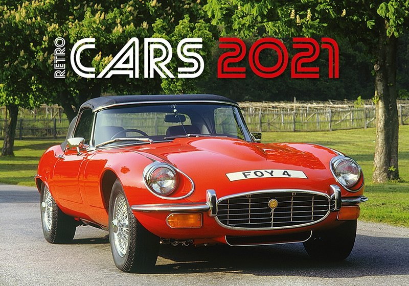 Kalendarz ścienny wieloplanszowy Retro Cars 2021 - okładka