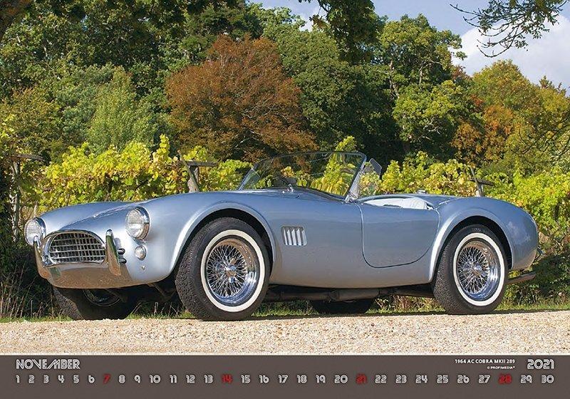 Kalendarz ścienny wieloplanszowy Retro Cars 2021 - listopad 2021