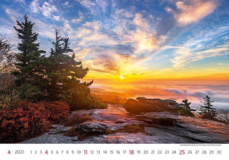 Kalendarz ścienny wieloplanszowy Landscapes 2021 - kwiecień 2021