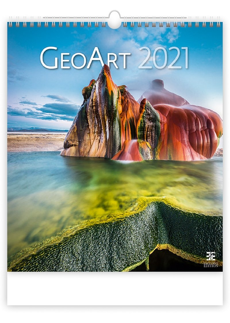 Kalendarz ścienny wieloplanszowy Geo Art 2021 - exclusive edition - okładka