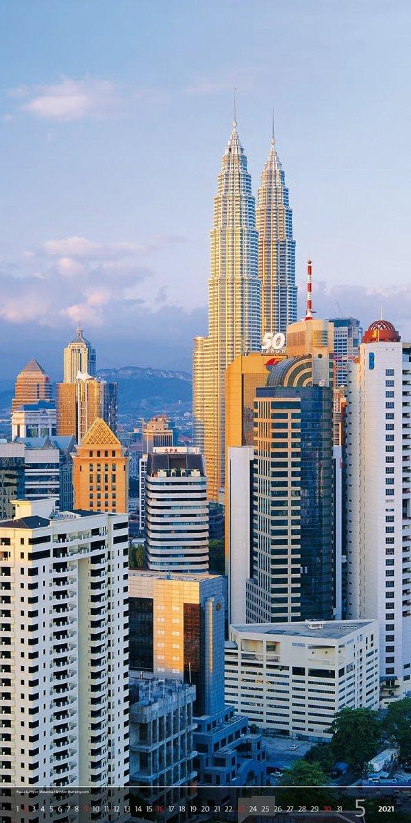 Kalendarz ścienny wieloplanszowy Above the  Cities 2021 - exclusive edition - maj 2021