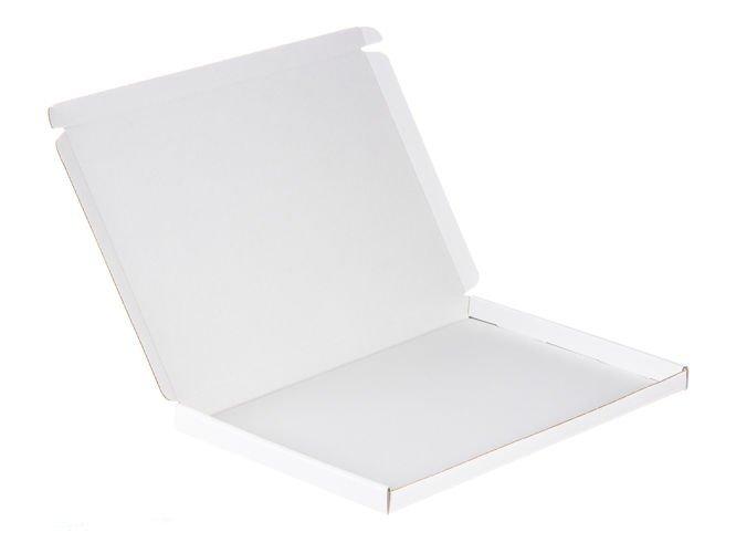 Karton fasonowy biały A4 o wym. 320x220x20 mm 3-warstwowy fala E 410g 50 SZTUK