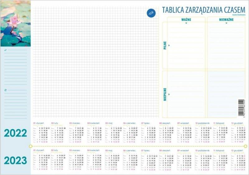 Biuwar mały B3 26-kartkowy LILIE 2022-2023 z tablicą zarządzania czasem