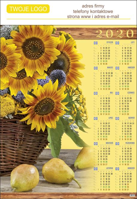 Nadruk reklamowy na kalendarzu plakatowym - pełnokolorowa grafika