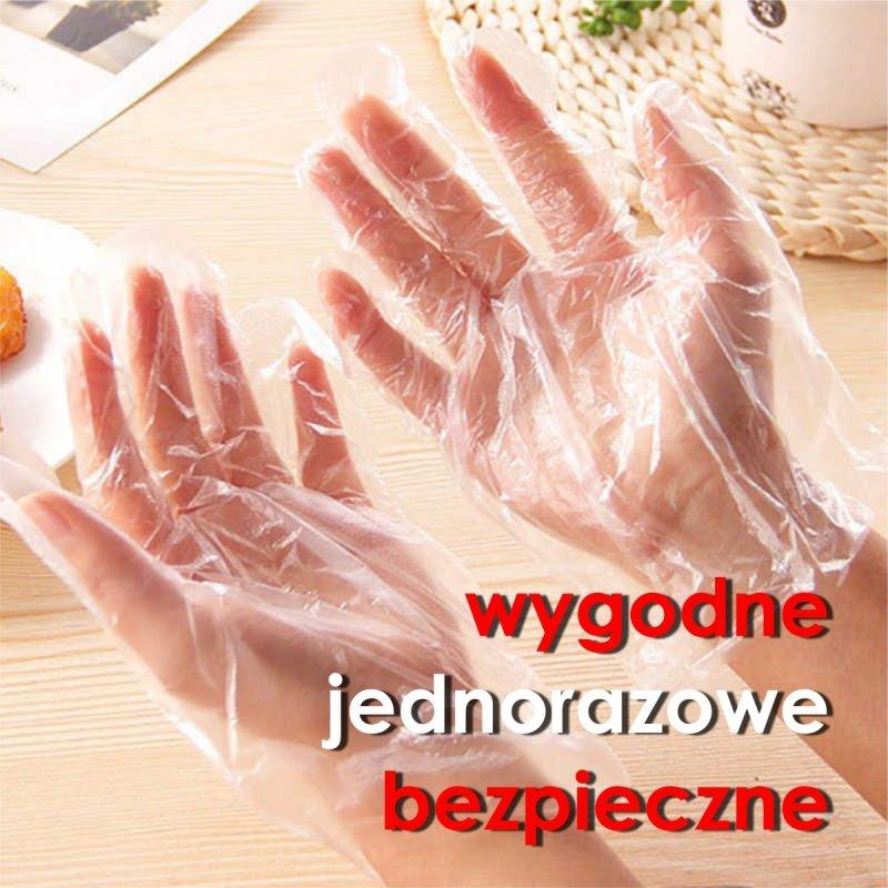 rękawiczki foliowe jednorazowe bezpieczne